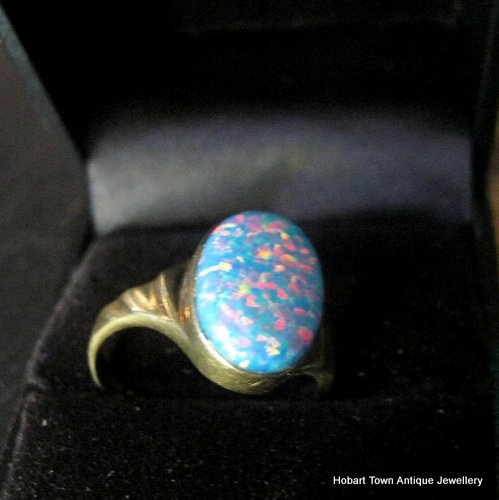 gold opal ring trilgoy trilogy