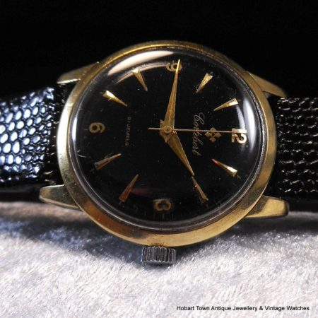 Fine Cortebert Rolex Explorer Style Black Dial In Great Condition