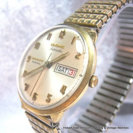 Vintage Longines 5 Star Admiral Roulette Day Date Auto