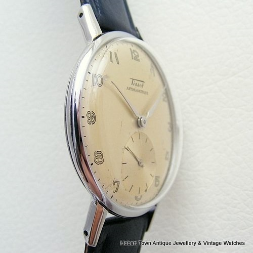 Vintage Tissot Military Style Handsome 35m Huge Seconds Dial Watch