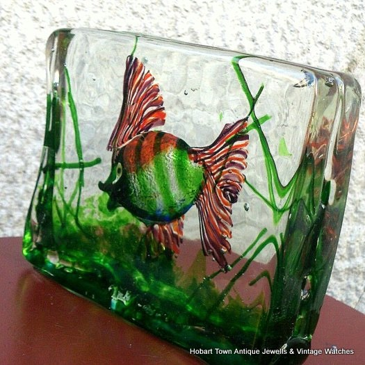 Beautiful Cedenese ~ RIccardo Licta Murnao Glass Aquarium c1950