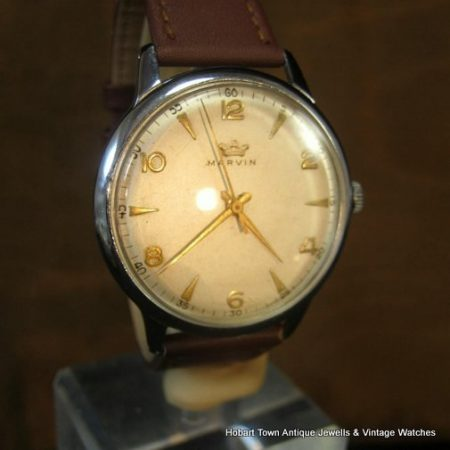 Fine Vintage MARVIN Over Size 1940's 36m Stunning Original Watch