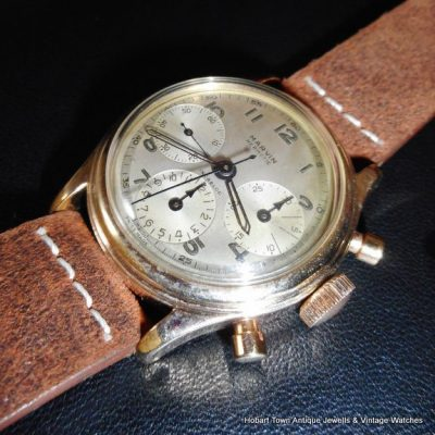 Rare Marvin Hermetic Triple Register Chronograph