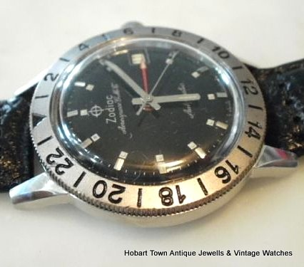 Vintage Zodiac Aerospace GMT Automatic Gents Date Watch