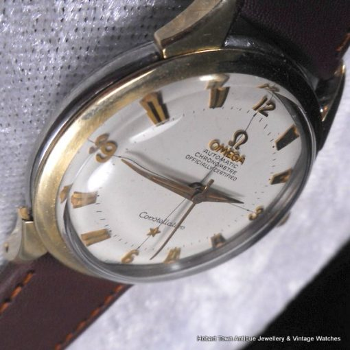 Omega Pie Pan Constellation De Luxe Rose Gold St.Steel Chronometer Ref;2852