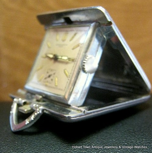 Super Rare Vintage Record 24hr Miniature Pocket Travel Watch