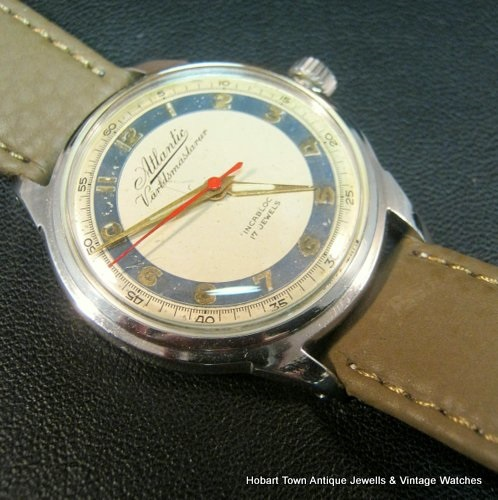 Vintage Atlantic Varldsmastarur World Master Quality Adjusted MMT Watch