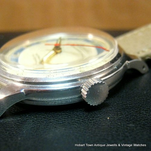 Vintage Atlantic Varldsmastarur World Master Quality Adjusted MMT Watc