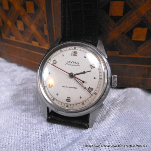 Fine Vintage Cyma Tavannes 1940's Automatic St,Steel Watch