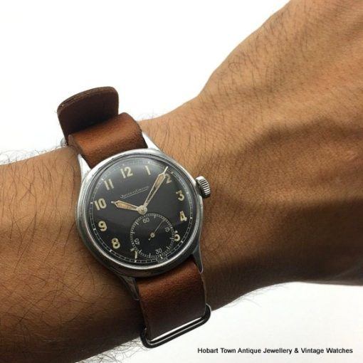 Jaeger Lecoultre 1944 Black Dial Military Style Cal;469a Watch