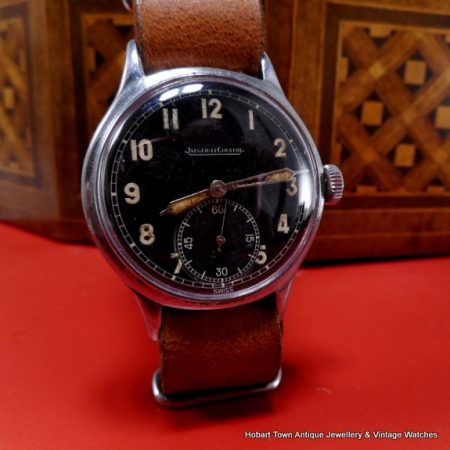 Jaeger Lecoultre 1944 Black Dial Military Style Cal;469a