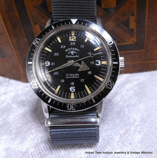 Vintage Rotary Aquaplunge 666ft 1960's Divers Watch