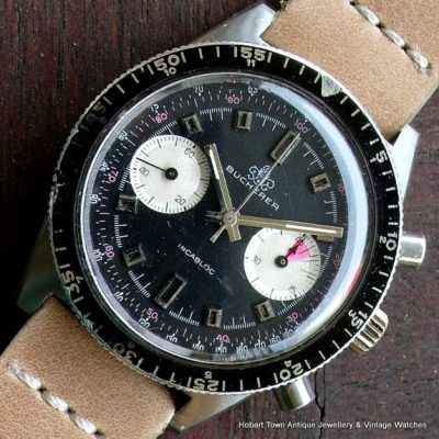 Super Rare Bucherer Divers Chronograph 660ft Valjoux 23 1970