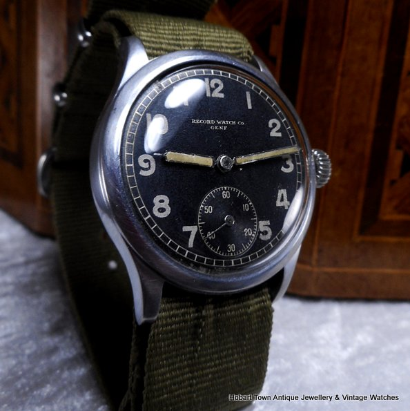 Vintage WW2 German Army D H Record Military Watch